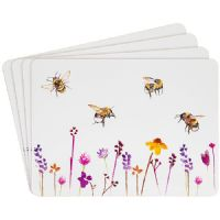 Set of 4 Table Place Mats Busy Bees by Jennifer Rose
